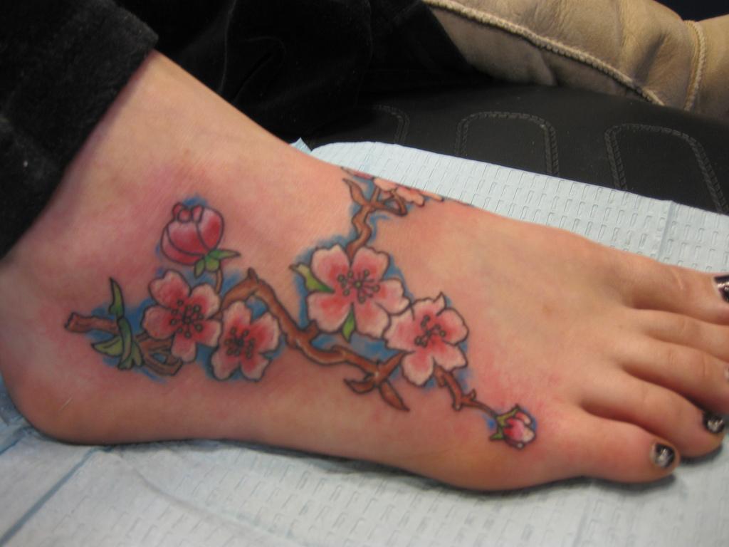 tattoos voet voorbeelden