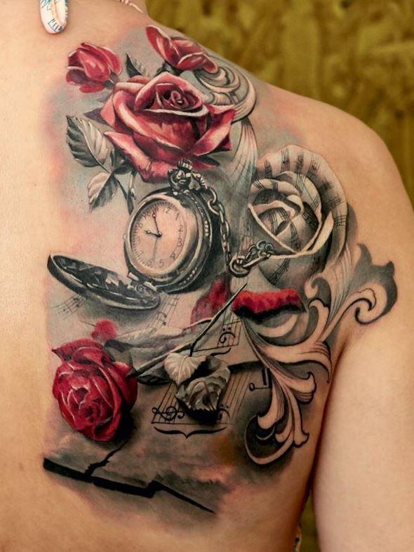 Uitzonderlijk Klok / horloge tattoo en de betekenis @MW71