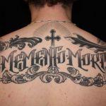 Lettering tattoo voorbeeld