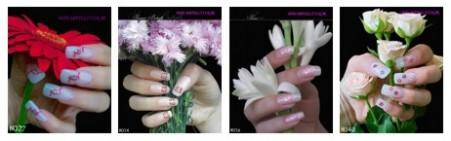 Body glitter nagels