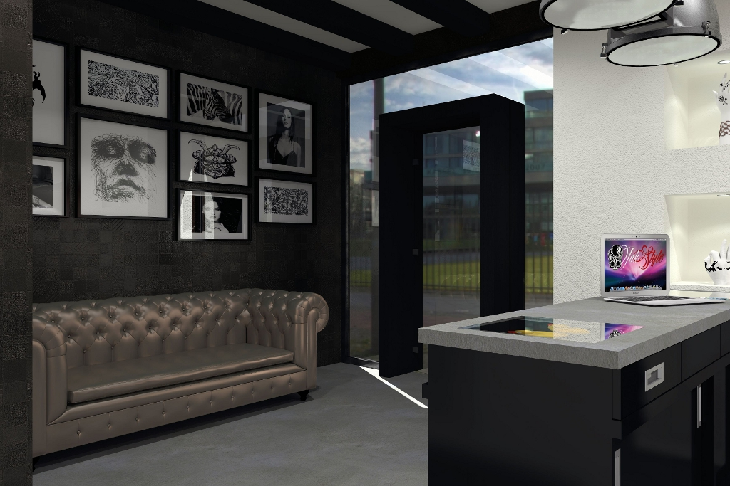 Nieuw tattoo shop interieurs tattoo platform - Layouts hoogte ...