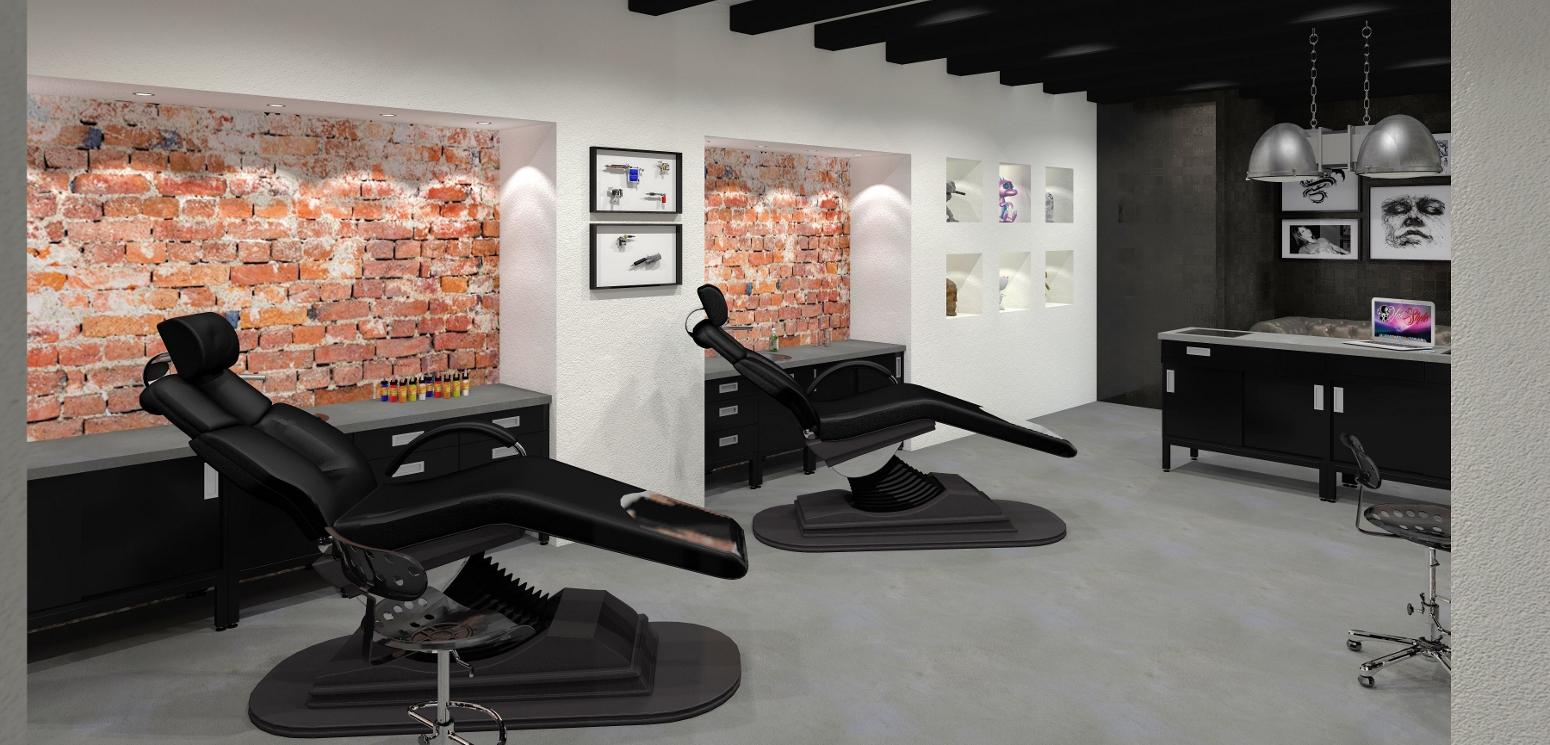 nieuw tattoo shop interieurs tattoo platform. Black Bedroom Furniture Sets. Home Design Ideas