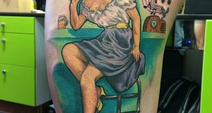 Tattoo van de dag door Peter van Woensel