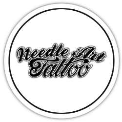Needle Art Tattoo logo rond