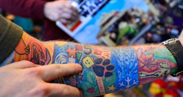 De tattoos van Ed Sheeran